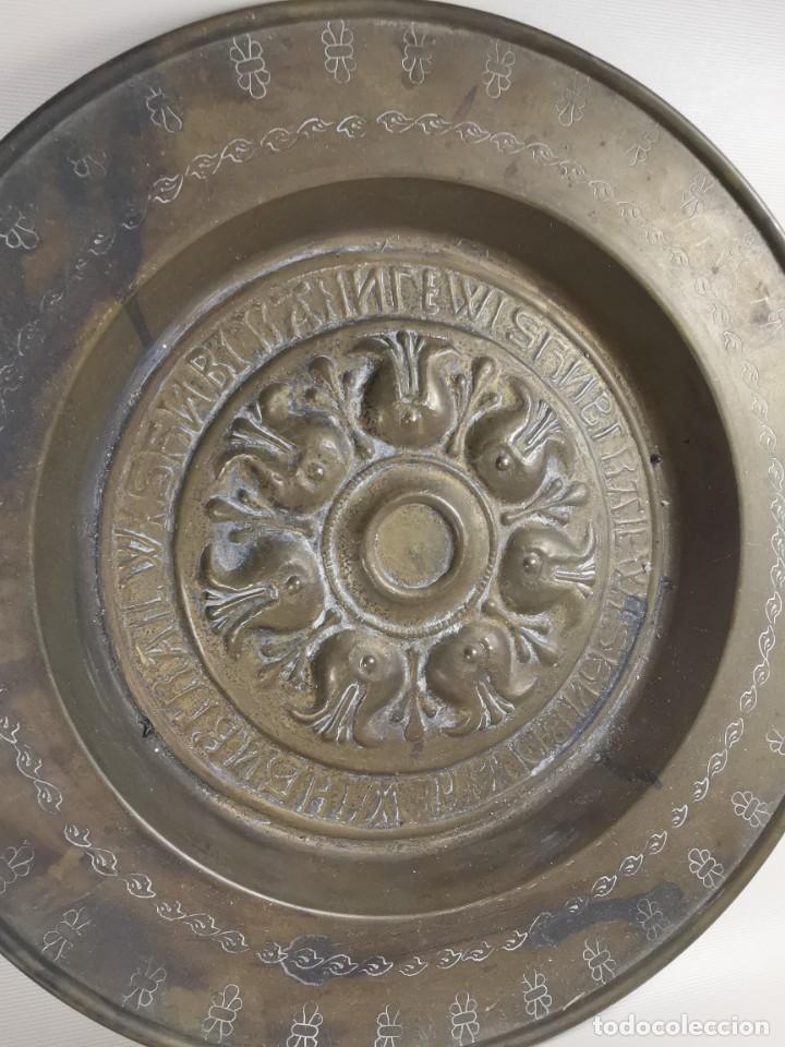Antigüedades: ANTIGUO PLATO PETITORIO LIMOSNERO NUREMBERG SIGLO XVIII - Foto 6 - 237742950