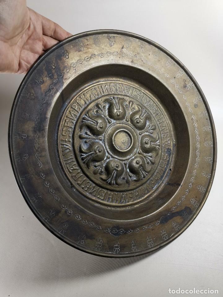 Antigüedades: ANTIGUO PLATO PETITORIO LIMOSNERO NUREMBERG SIGLO XVIII - Foto 8 - 237742950