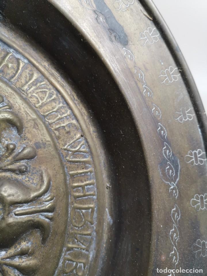 Antigüedades: ANTIGUO PLATO PETITORIO LIMOSNERO NUREMBERG SIGLO XVIII - Foto 23 - 237742950