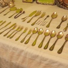 Antiguidades: LOTE DE CUBIERTOS DE ALPACA (BAÑO DE PLATA). Lote 237746115