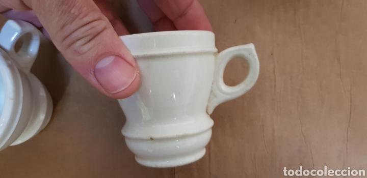 Antigüedades: Juego de 6 jícaras o tazas para chocolate, con la base muy gruesa. Sin marcas - Foto 3 - 237834845