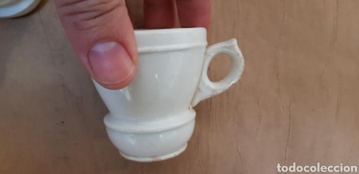 Antigüedades: Juego de 6 jícaras o tazas para chocolate, con la base muy gruesa. Sin marcas - Foto 4 - 237834845