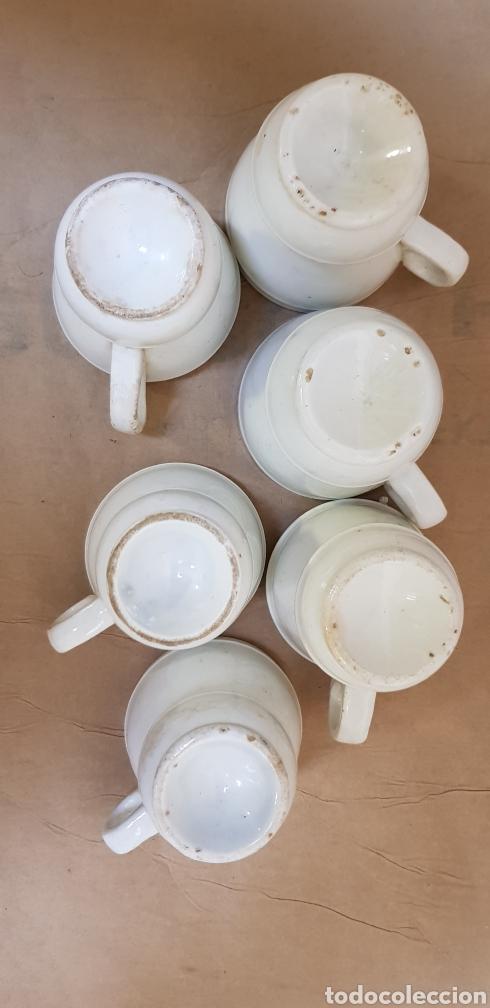 Antigüedades: Juego de 6 jícaras o tazas para chocolate, con la base muy gruesa. Sin marcas - Foto 7 - 237834845