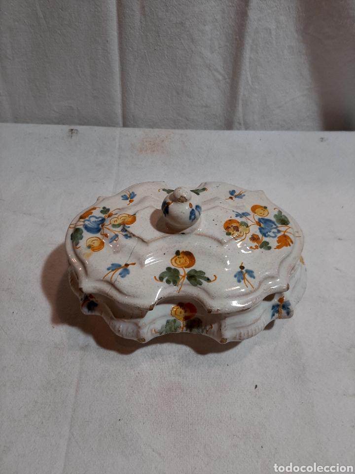 ESPECIERO TALAVERA SERIE ALCOREÑA (Antigüedades - Porcelanas y Cerámicas - Talavera)