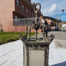 Antigüedades: FAROL ANTIGUO NEORRENACENTISTA MUY LABRADO DE BRONCE PIEZA FABULOSA GRAN TAMAÑO DEL SIGLO XIX APROX. Lote 237899665
