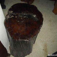 Antigüedades: PEANA CUBO MADERA FOSILIZADA 63. Lote 237904135