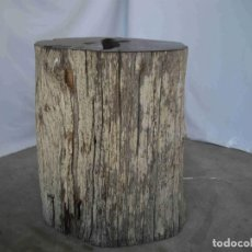 Antigüedades: PEDESTAL MADERA FOSILIZADA. Lote 237904155