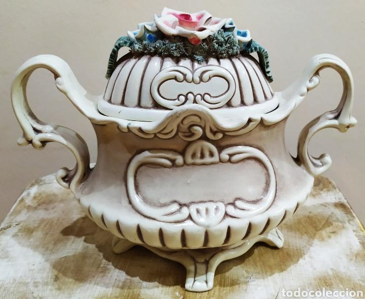 Antigüedades: Salsera antigua de porcelana; Artesanía SOVAL, Ref. 640. Ver fotos. - Foto 2 - 237954425