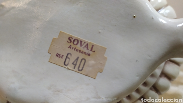 Antigüedades: Salsera antigua de porcelana; Artesanía SOVAL, Ref. 640. Ver fotos. - Foto 8 - 237954425