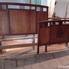Antiquités: CAMA MADERA TALLADA 1980. Lote 237966790