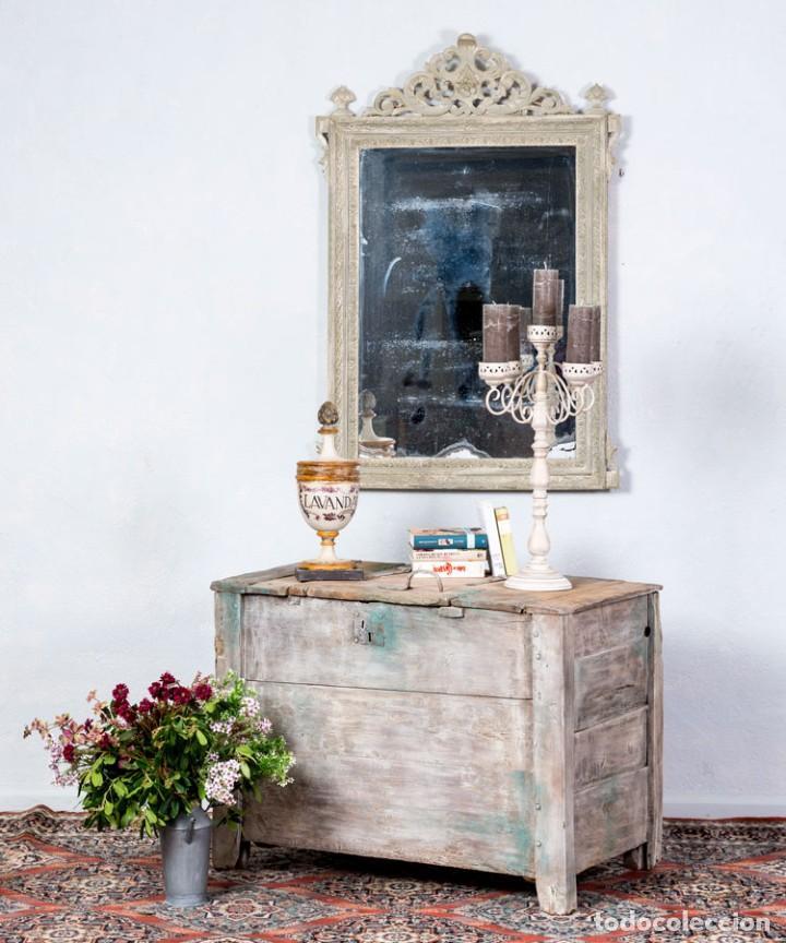 BAÚL DE GRANJA ANTIGUO S.XIX (Antigüedades - Muebles Antiguos - Baúles Antiguos)