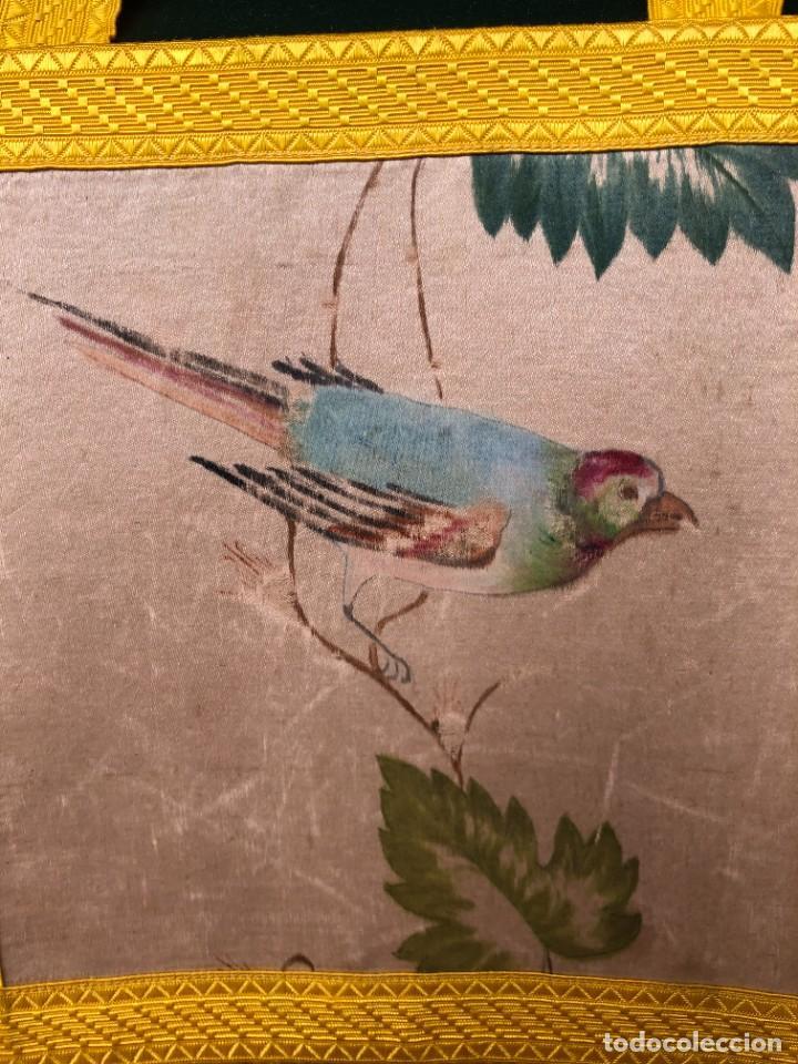 Antigüedades: CASULLA XIX COMPLETA SEDA NATURAL - Foto 14 - 238276190