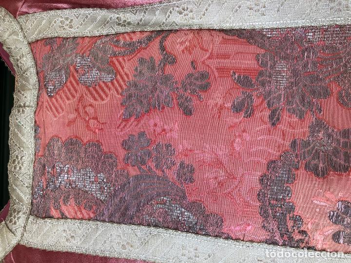 Antigüedades: CASULLA XIX COMPLETA SEDA NATURAL - Foto 11 - 238277780