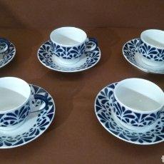 Antiguidades: JUEGO 5 TAZA CAFÉ CON PLATO GALERÍAS 1 REF: 02165193 SARGADELOS. Lote 238280440
