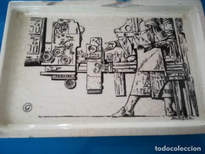 Antigüedades: CENICERO PORCELANA ALGORA - PUBLICIDAD ARTES GRAFICAS - Foto 2 - 238315010