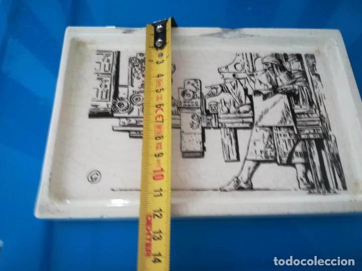 Antigüedades: CENICERO PORCELANA ALGORA - PUBLICIDAD ARTES GRAFICAS - Foto 9 - 238315010