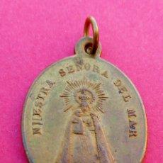 Antigüedades: MEDALLA SIGLO XIX VIRGEN DEL MAR. ALMERÍA Y VIRGEN DEL BREZO PALENCIA. MUY RARA.. Lote 238333725