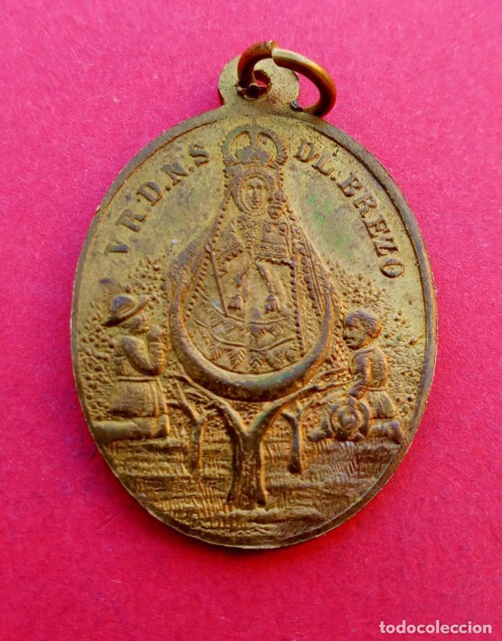 Antigüedades: Medalla Siglo XIX Virgen del Mar. Almería y Virgen del Brezo Palencia. Muy Rara. - Foto 2 - 238333725