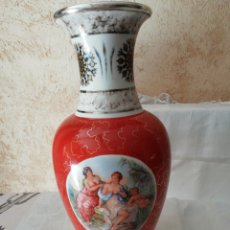Antigüedades: JARRÓN PORCELANA Y PLATA DE LEY. Lote 238415790