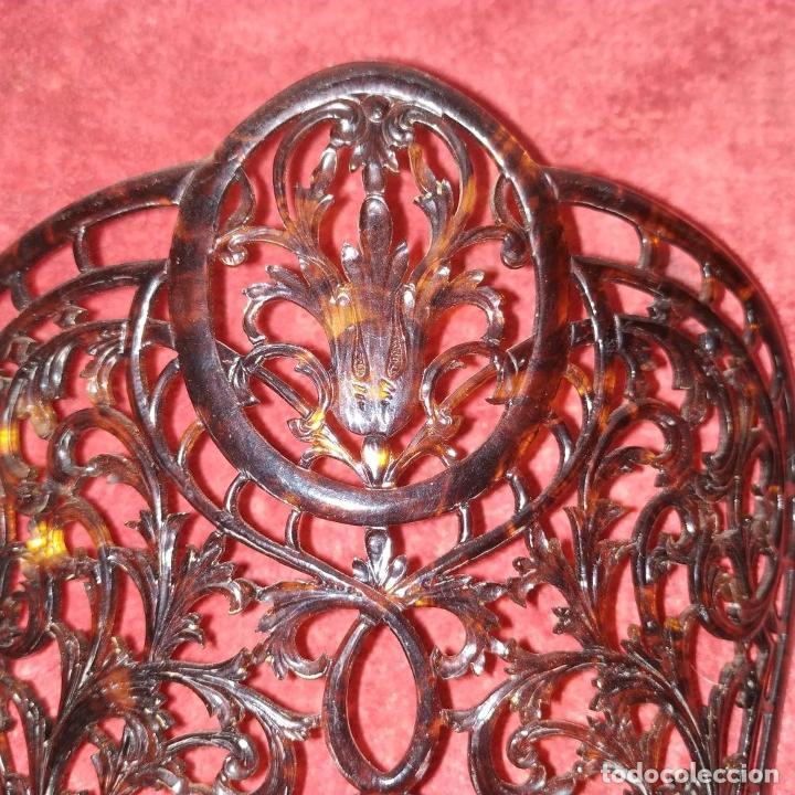Antigüedades: PEINETA DE DAMA. CELULOIDE SÍMIL CAREY. ESPAÑA. SIGLO XIX-XX - Foto 6 - 238439470