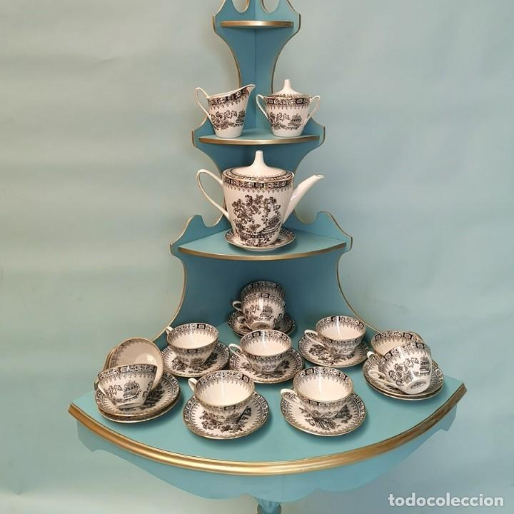 JUEGO CAFÉ SANTA CLARA (Antigüedades - Porcelanas y Cerámicas - Santa Clara)