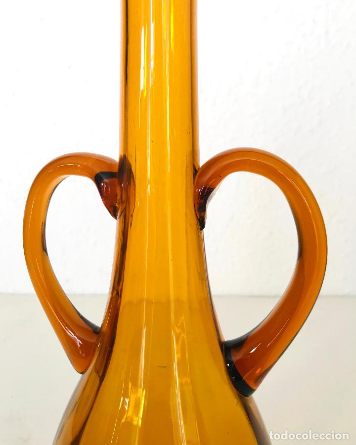 Antigüedades: Jarrón vidrio soplado mallorquín. 33 cm Años 50/60 - Foto 2 - 238516445