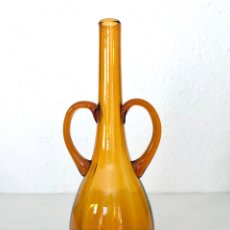 Antigüedades: JARRÓN VIDRIO SOPLADO MALLORQUÍN. 33 CM AÑOS 50/60. Lote 238516445
