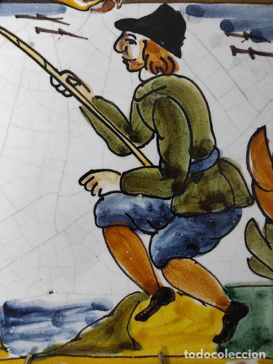 Antigüedades: Azulejo Catalán - Rajola Arts i Oficis - Pescador - S. XVIII - Foto 10 - 238551410