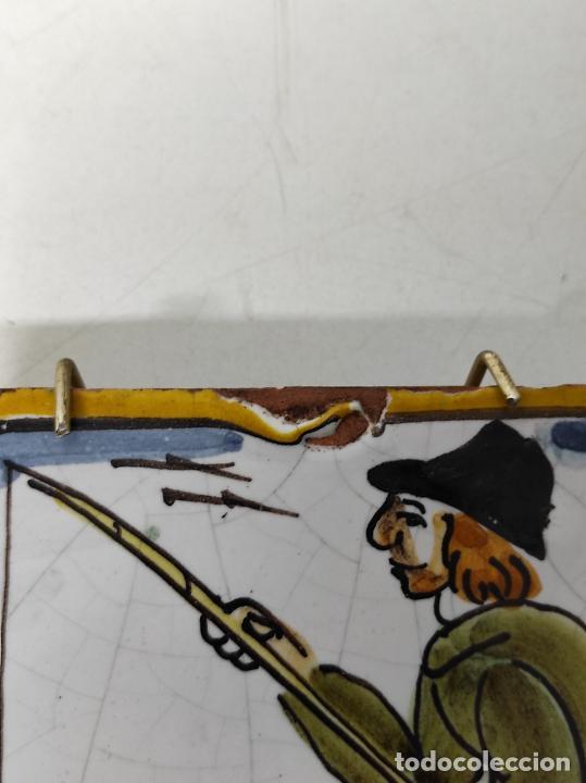 Antigüedades: Azulejo Catalán - Rajola Arts i Oficis - Pescador - S. XVIII - Foto 11 - 238551410