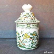 Antigüedades: TARRO BOTE TIBOR DE PORCELANA SAN CLAUDIO. Lote 209934425