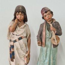 Antigüedades: MÚSICOS. CERÁMICA PINTADA A MANO. GESETZLICH GESCHULTZ. AUSTRIA. SIGLO XX. Lote 238565295