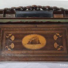 Antigüedades: ESCRITORIO DE VIAJE. ESTILO CARLOS IV. MADERA DE CAOBA. SIGLO XVIII-XIX.. Lote 238574350