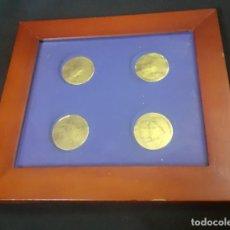 Antigüedades: PEQUEÑO CUADRO PARA EXPONER MONEDAS. Lote 238604685