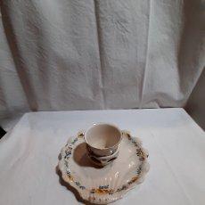 Antigüedades: MANCERINA CON SU JICARA ALCORA SERIE DEL RAMITO. Lote 238617510