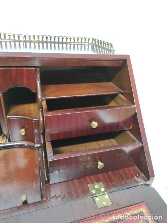 Antigüedades: Antiguo Canterano Holandés - Escritorio en Madera de Caoba - Tiradoras Originales - S. XIX - Foto 12 - 238641055