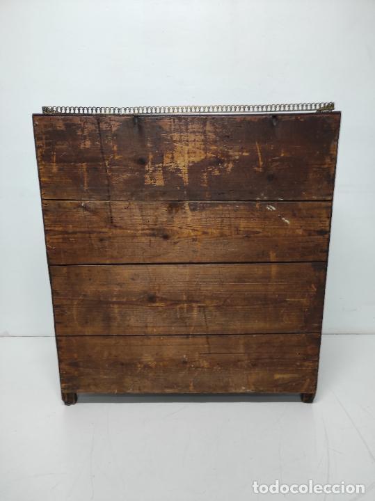 Antigüedades: Antiguo Canterano Holandés - Escritorio en Madera de Caoba - Tiradoras Originales - S. XIX - Foto 16 - 238641055