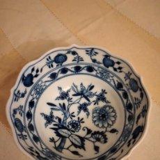 Antigüedades: ANTIGUO BOL DE PORCELANA MEISSEN, MODELO CEBOLLA, AZUL. Lote 238665665