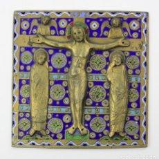 Antigüedades: BAJORELIEVE ESTILO LIMOGES 18X18 CM. SIGLO XX. Lote 238728275