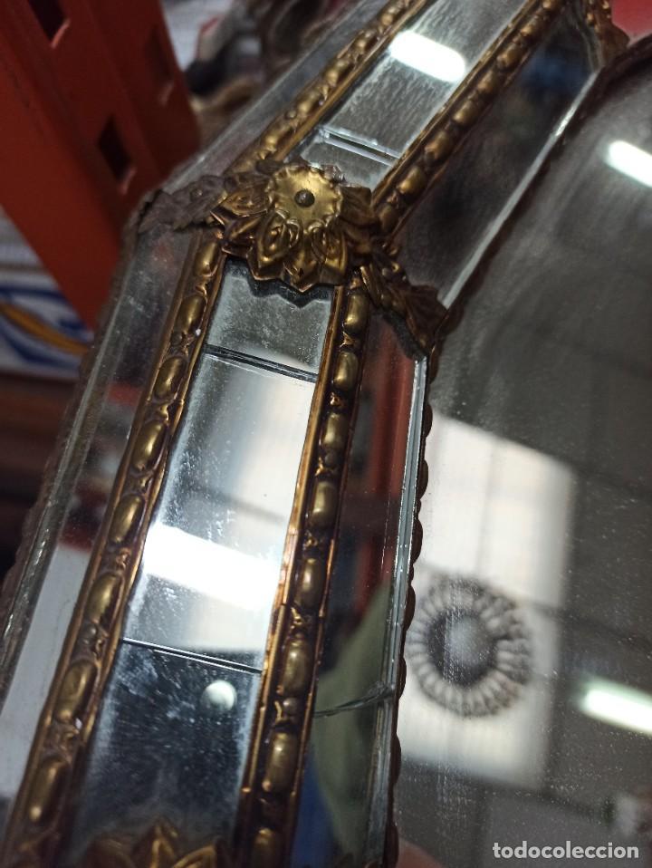 Antigüedades: Espejo Tipo Veneciano - Foto 4 - 238732235