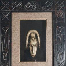 Antigüedades: CUADRO ETNICO , ARTESANAL, AFRICANO. Lote 238738805