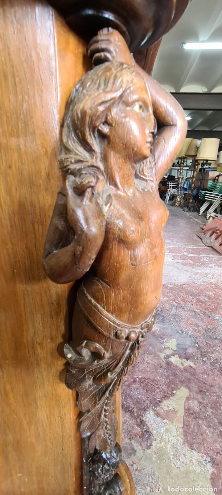 Antigüedades: COMODA EN MADERA DE PALISANDRO. SOBRE DE MÁRMOL. ESTILO ISABELINO. SIGLO XIX. - Foto 43 - 238756765