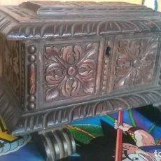 Antigüedades: CAJA MADERA TALLADA, TIPO ARCA, ARCON O CAJA DE NOVIA. Lote 238759110