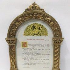 Antigüedades: SACRA BRONCE SOBRE DORADO ANTIGUA DE IGLESIA. Lote 238764030