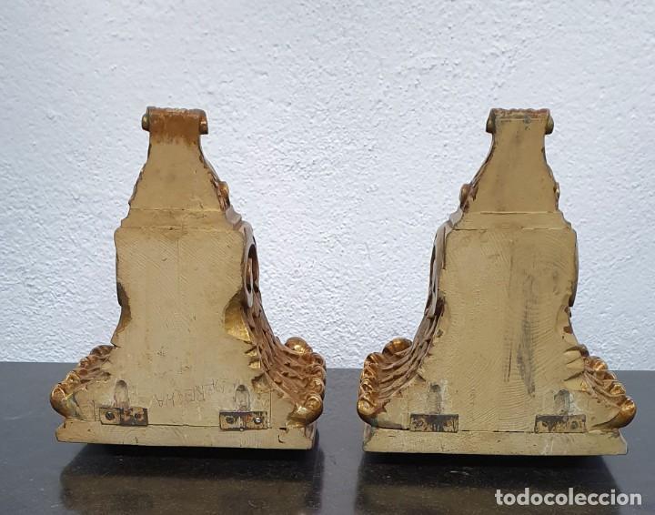 Antigüedades: PAREJA DE JARRONES SATSUMA CON PEANAS DE MADERA - MUY DECORATIVOS. - Foto 4 - 238776580