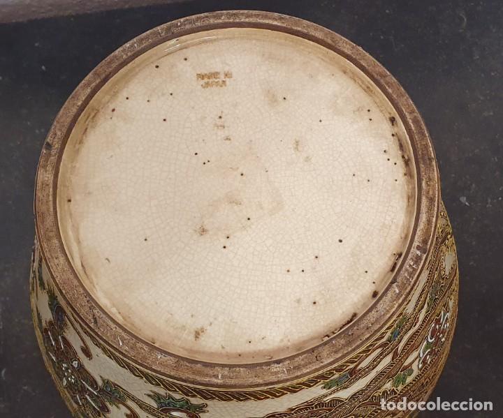Antigüedades: PAREJA DE JARRONES SATSUMA CON PEANAS DE MADERA - MUY DECORATIVOS. - Foto 19 - 238776580