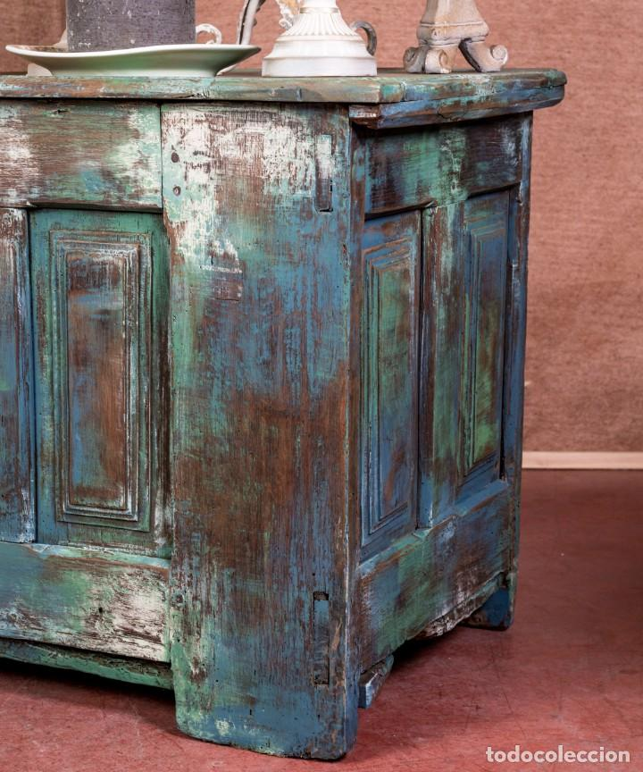 Antigüedades: Arcón Antiguo Restaurado Alfaro - Foto 2 - 238777130