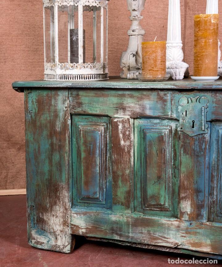 Antigüedades: Arcón Antiguo Restaurado Alfaro - Foto 3 - 238777130