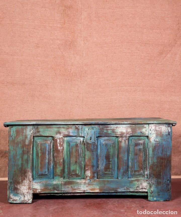 Antigüedades: Arcón Antiguo Restaurado Alfaro - Foto 4 - 238777130