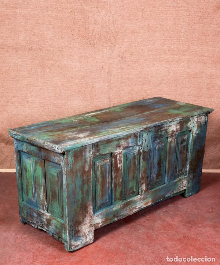 Antigüedades: Arcón Antiguo Restaurado Alfaro - Foto 5 - 238777130
