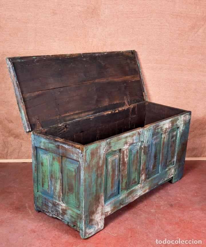 Antigüedades: Arcón Antiguo Restaurado Alfaro - Foto 7 - 238777130